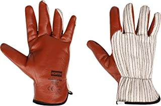 North by Honeywell Worknit Nitrile Supported Cut-Resistant Safety Gloves with Black Stripe, X-Large (RWS-57004)
