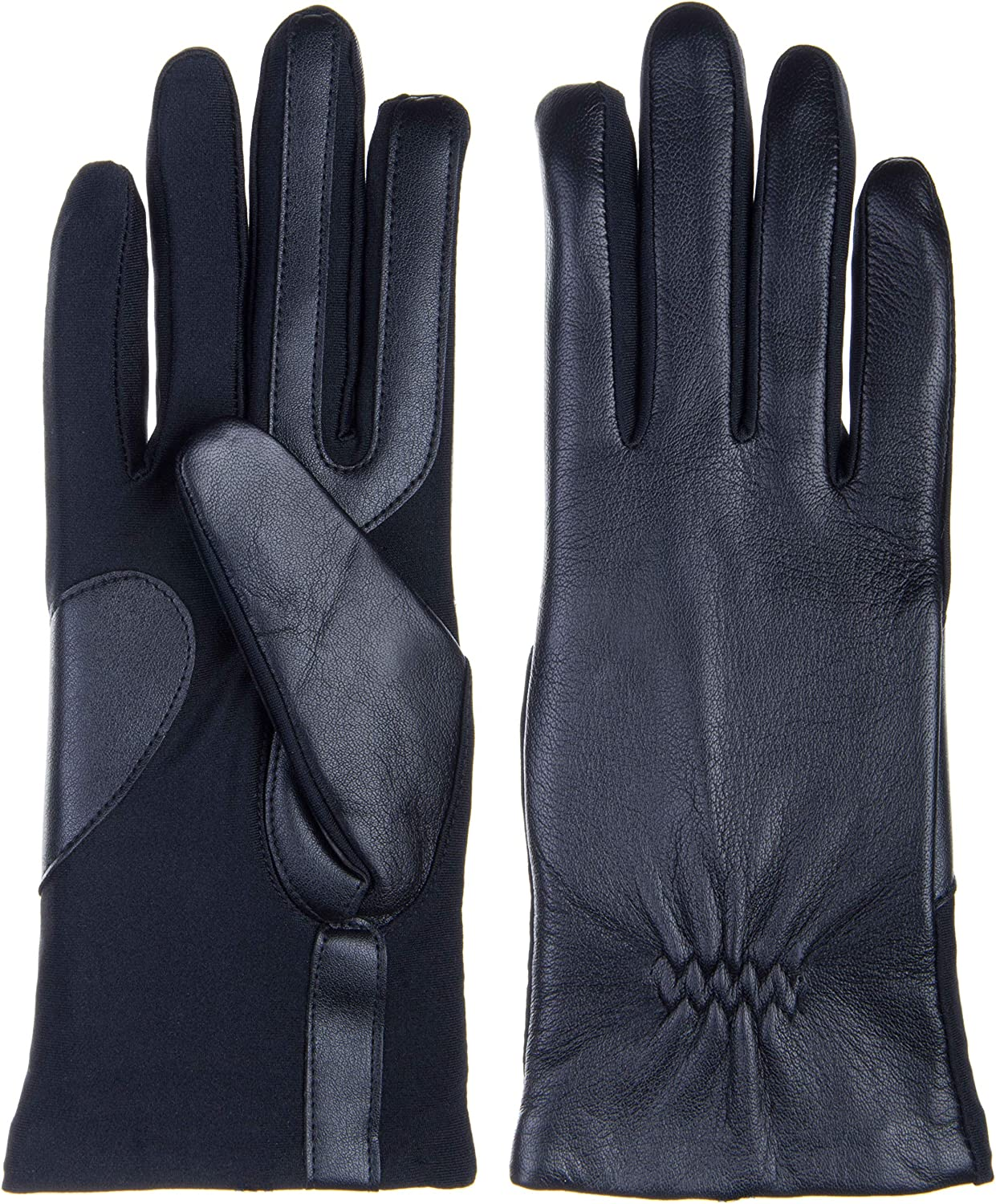Isotoner Womens Stretch Leather Glove - Fleece