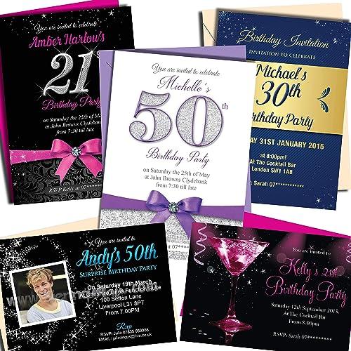 21st Birthday Invitation Amazon Co Uk