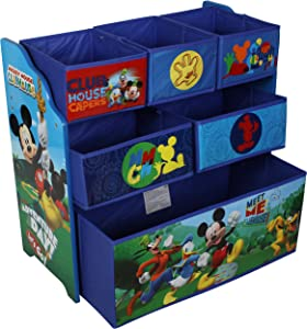 Disney Mickey Mouse Children s Toy Storage Unit Box Organiser Wooden Multi Tray Kids Bedroom Playroom Furniture