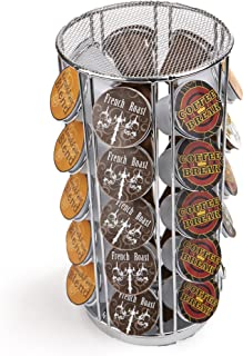 Mind Reader K-Cup Carousel, Holds 35 K-Cups, Coffee Pod Holder 35 Capacity METCAR35-SIL