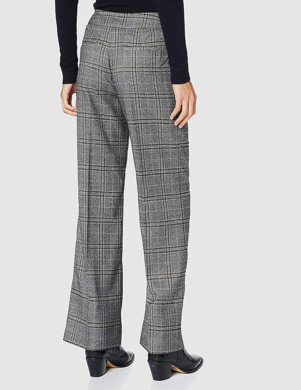 APART Fashion Checks Pants Pantalons Femme Grey-multicolor