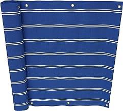 Angerer balkonscherm Dralon Nr. 2200 Nr. 9400 75 cm hoch, Länge: 8 Meter blauw