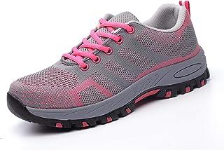 Zapatos de Seguridad de Trabajo con Puntera de Acero, Ligeros, para Hombres y Mujeres, Estilo Industrial y de construcción