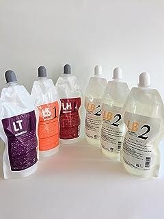 かかります?傷んでる髪に発揮?初心者でも簡単!日本製 ルノン 化粧品タイプコスメ『カールアミン』パーマ剤(1液?2液セット)各400ml業務用 (LT?LH?LS(ハード?ソフト)1剤各1個×LB2剤(各1剤に適合)3個 お徳用セット)