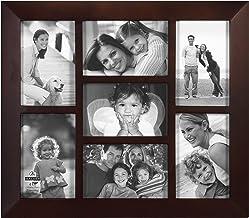 إطار صور خشبي للصور المجمعة بيركلي بحافة مشطوفة من شركة مالدن إنترناشيونال ديزاينز، 7-4×6، خشب الجوز