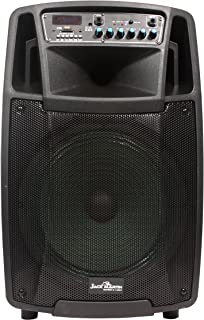 Jack Martin Z 12 Outdoor Bluetooth Trolley Speaker with USB/FM/SD Card/Karaoke Speaker,1 Wireless Mic & Guitar Input with Recording Feature