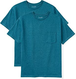 Amazon Essentials Men's Big & Tall 2-Pack Short-Sleeve Crewneck Pocket T-Shirt fit by DXL