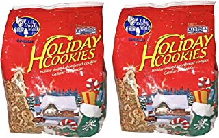 Lil' Dutch Maid Holiday Cookies! Christmas Themed Shortbread Cookies With Sprinkles - TWO PACKAGES!