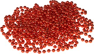 Clever Creations Bead Style Christmas Garland Shiny 7mm Red Shatterproof Bead Garland | Classic Traditional Christmas Theme | Festive Holiday Décor | Measures 8m (26.25') Long