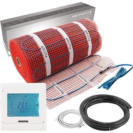 Gr/ö/ße:12 m/² 200 Watt Elektrische Fu/ßbodenheizung 1 bis 12 m/² mit TWIN-Technologie