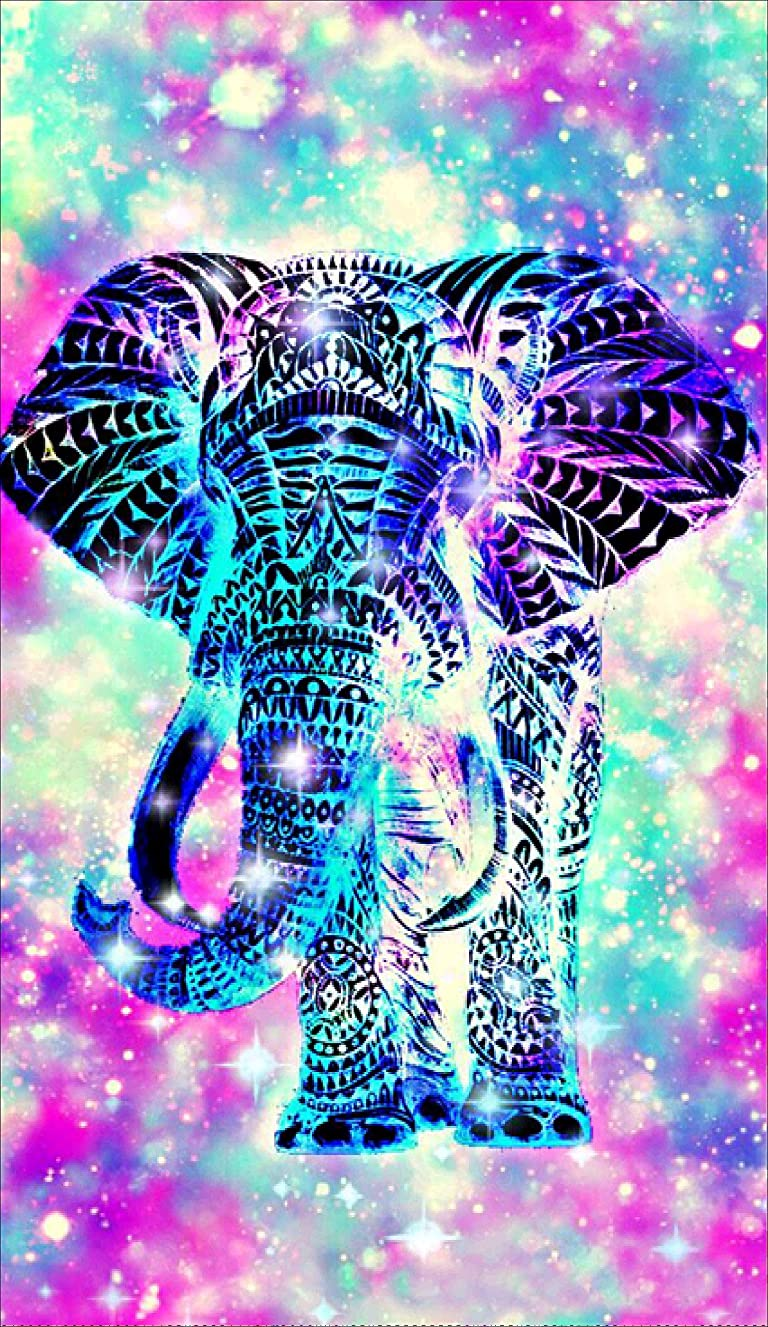 DIY 5D Diamond Painting Kits Full Drill, Astory Rhinestone Crystal Embroidery Pictures Cross Stitch for Home Room Decoration Colorful Elephant 3048 cm (11.818.9inch)
