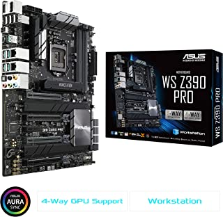 ASUS Socket 1151 DDR4 M.2 U.2 ATX Motherboard for 9th Generation Intel Core Motherboards WS Z390 PRO