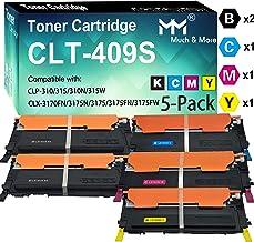 (5-Pack) Compatible CLT-K409S CLT-C409S CLT-M409S CLT-Y409S CLT-409S Toner Cartridge Used for Samsung CLP-310 CLP-315 CLP-310N 315W CLX-3170FN 3175N CLX-3175 CLX-3175FN 3175F Printer, by MuchMore