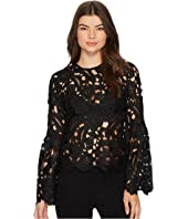 ROMEO & JULIET COUTURE - Crochet Lace Bell Sleeve Top