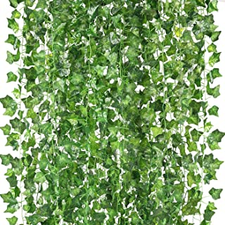 Peoxio konstgjorda hängande växter falska vinstockar silke murgröna blad grönska girlang för bröllop kök vägg utomhus fest...