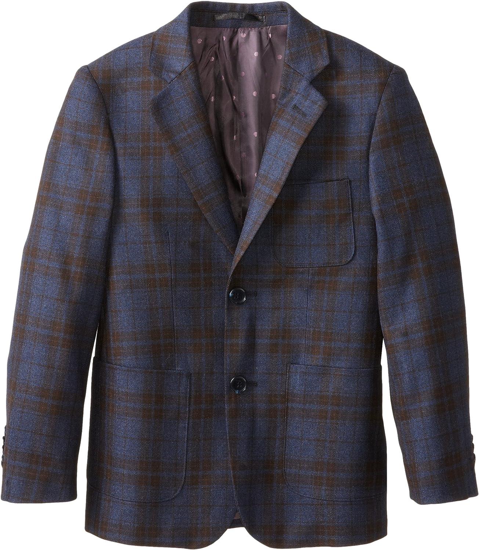 Isaac Mizrahi Black Label Big Boy's Plaid Wool Blazer