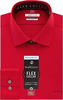 Van Heusen Men's Dress Shirt Regular Fit Flex Collar Solid