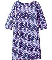 Stripes Whales Print Dress (Toddler/Little Kids/Big Kids)