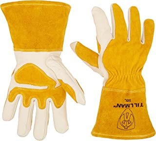 John Tillman and Co 50L Top Grain Leather MIG Gloves with Split Leather Palm..