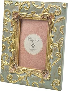 Concepts Green Resin Picture Frame Gold Scroll Corners 5