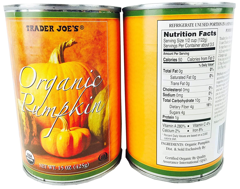 Trader Joe's Organic Pumpkin - 2 New mail order 15 Each 425 Max 63% OFF Can Oz Pack