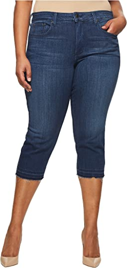 Plus Size Capris w/ Released Hem in Lark