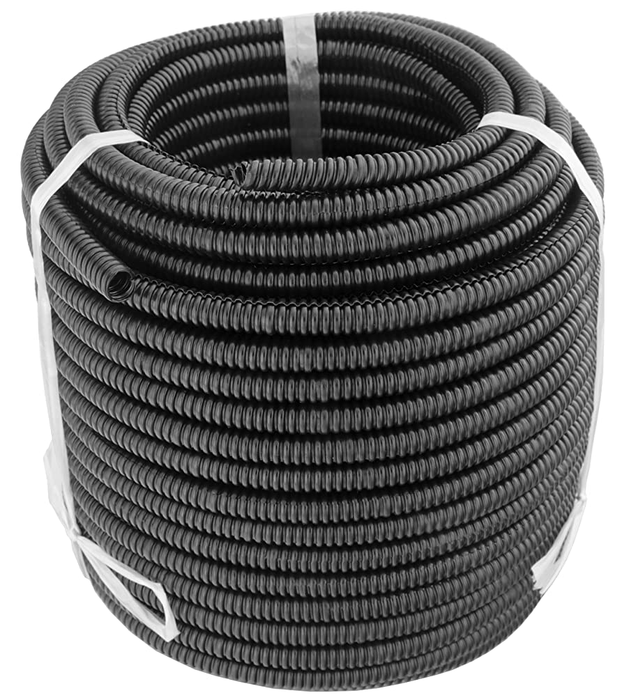 GS Power 50 FT Split Loom Tube - Polyethylene High Temperature Automotive, Marine, Industrial Electrical Wire & Cable Conduit   1/4 inch, 50 Feet (Also Available in: 3/8, 1/2 & 3/4 inch)