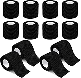 12 Pack Self Adherent Cohesive Wrap Bandages 2 Inches X 5 Yards, First Aid Tape, Elastic Self Adhesive Tape, Athletic, All...