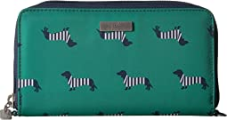 Coastal Be Spendy Zip Around Clutch Wallet