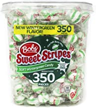 Bobs Sweet Stripes Soft Mints Candy, Wintergreen, (350 Count)