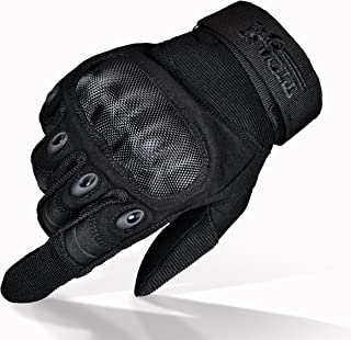 TitanOPS Premium Full Finger and Half Finger Hard Knuckle Motorcycle Military Tactical Combat Training Army Shooting Outdoor Gloves