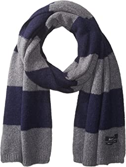 Scotch & Soda - Scarf in Brushed Wool Blend Quality and Block Stripe Pattern