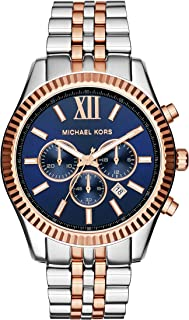 Micheal Kors Men's Quartz Watch With Chronograph Quartz Stainless Steel Mk8412, Multicolour Band