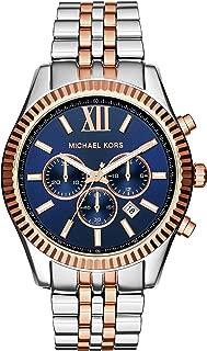Micheal Kors Men's Quartz Watch With Chronograph Quartz Stainless Steel Mk8412, Multicolour Band
