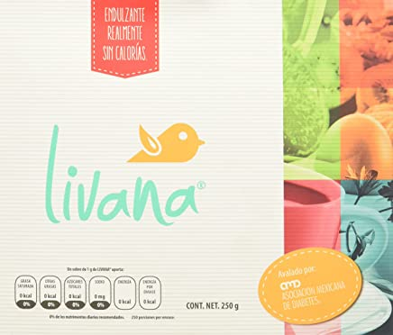 Livana Livana Endulzante 250 sobres, Azúcar, 250 gramos