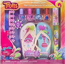 Townley Girl Dreamworks Trolls My Beauty Spa Set Polish, Buffer, File, Sandals & Toe Separators, 10Piece Set