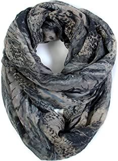 Mixed Color Oil Paint Infinity Versatile Fashion Scarf Head Wrap