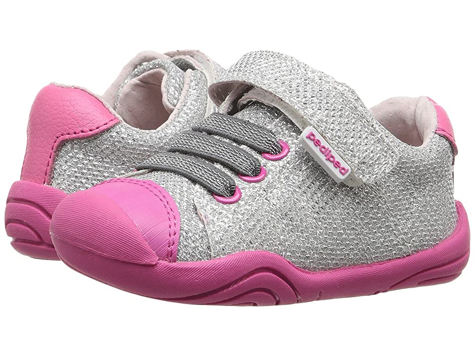 pediped Jake Grip n Go (Toddler) (Silver) Girls Shoes
