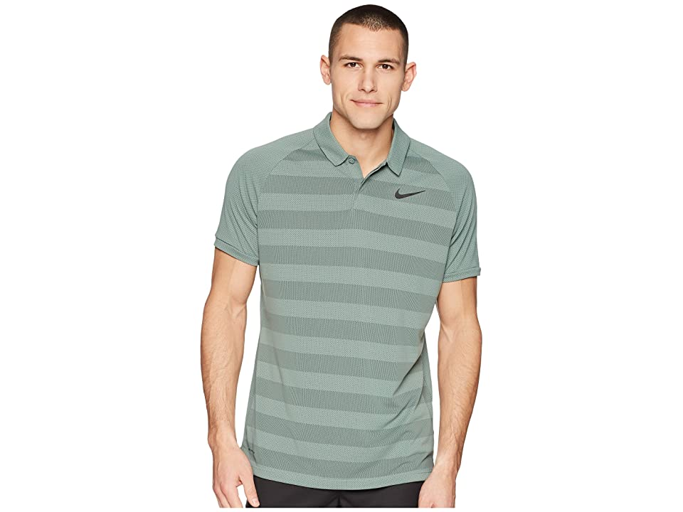 Nike Golf Zonal Cooling Stripe Polo (Clay Green/Sequoia/Black) Men