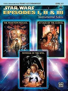Star Wars Episodes I, II & III Instrumental Solos for Strings: Viola, Book & CD