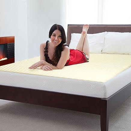 Lavish Home Natural Pedic 1 inch Thick Comfort Foam Mattress Topper,  Hypo-Allergenic,  Twin X-Large