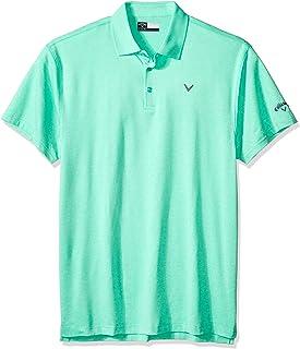 Callaway Men's Big & Tall Opti-Soft Short Sleeve Heathered Solid Polo