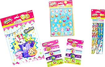 Shopkins Party Supplies Favor Bundle includes Sticker, Bracelet, Lootbag and Pencil