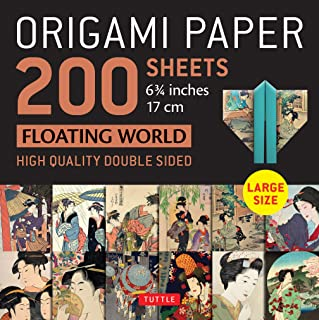 """Origami Paper 200 sheets Floating World 6 3/4"""" (17 cm): Tuttle Origami Paper: High Quality, Double-Sided Origami Sheets wi..."""