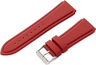 Hadley-Roma Men`s MS3346RAG240 Genuine Silicone Diver Sport Watch Strap