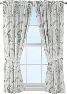 "Jay Franco Harry Potter Spellbound 63"" Drapes, Gray"