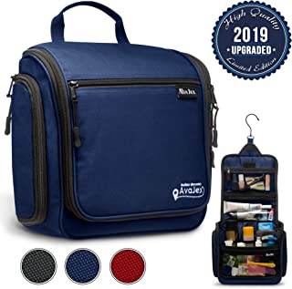 Premium Hanging Travel Toiletry Bag for Men and Women - Large Toiletry Organizer - Waterproof Hygiene Bag with Metal Swivel Hook, Durable Zippers and Large Capacity for Toiletries, Makeup, Cosmetics