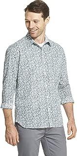 Men's Slim Fit Never Tuck Long Sleeve Button Down Print Shirt
