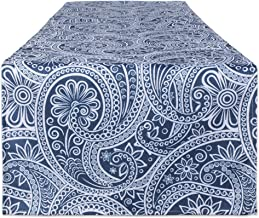 DII Outdoor Table Linens Blue Paisley, 14x72